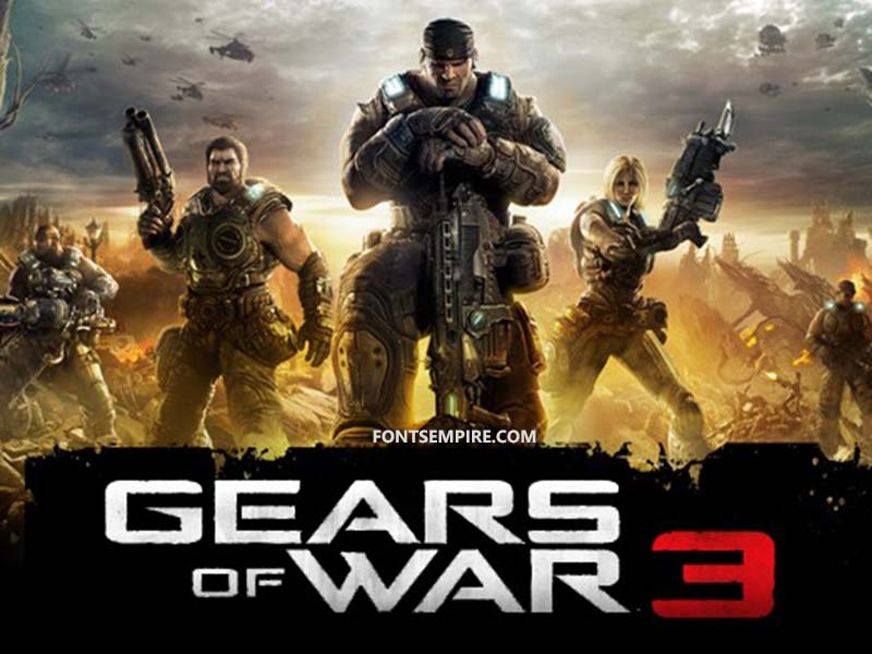 Gears of War Font Family Free Download