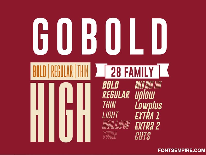 Gobold Font Family Free Download