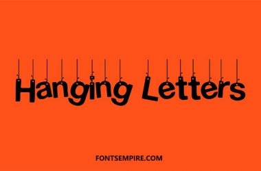 Hanging Letters Font Family Free Download