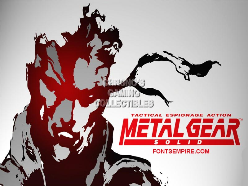Metal Gear Font Family Free Download