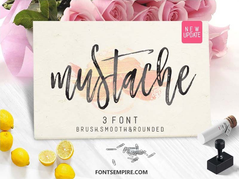 Mustache Script Font Family Free Download