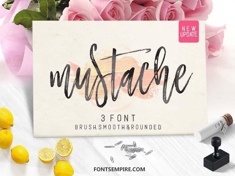 Mustache Script Font Family Free Download