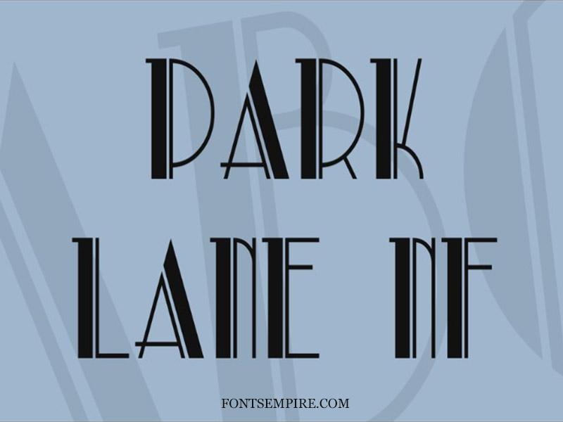 Park Lane Font Family Free Download