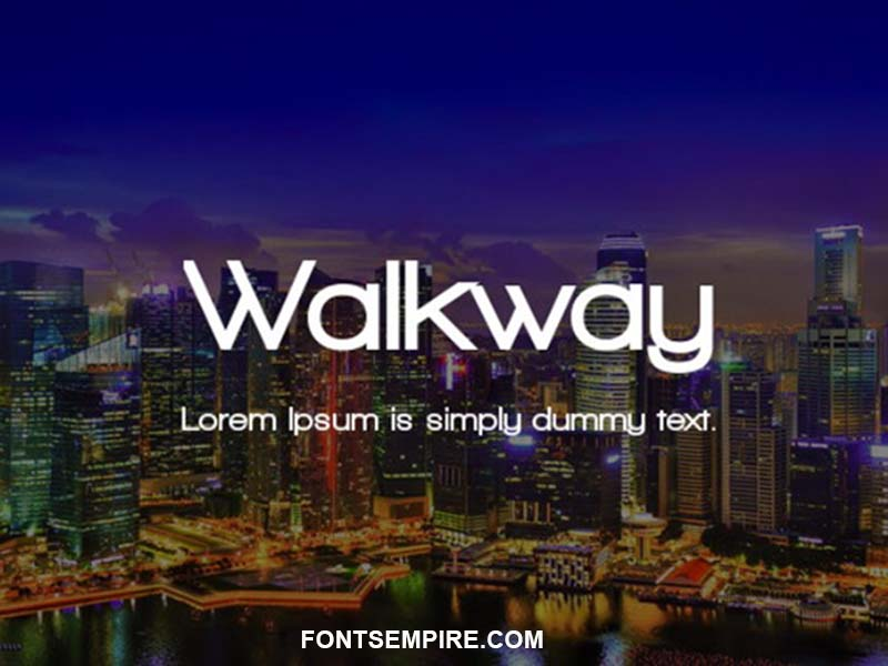 Walkway Font Family Free Download