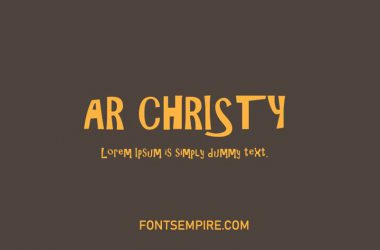 Ar Christy Font Family Free Zip Download