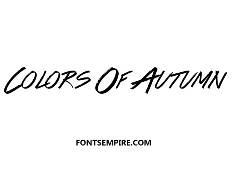 Colors of Autumn Font Family Free Download