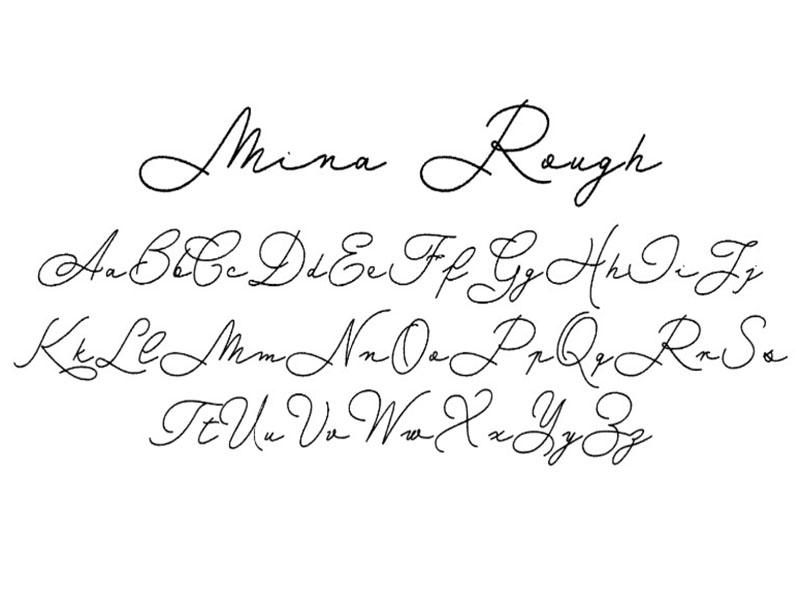 Mina Rough Font Free Download