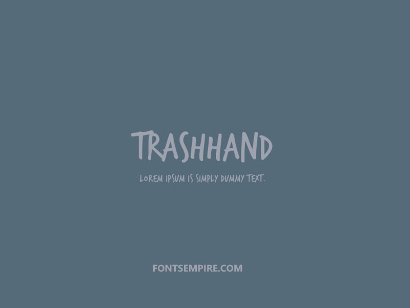 Trashhand Font Family Free Download