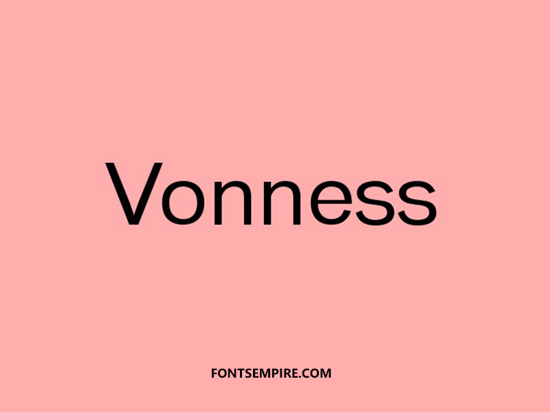 Vonness Font Family Free Download