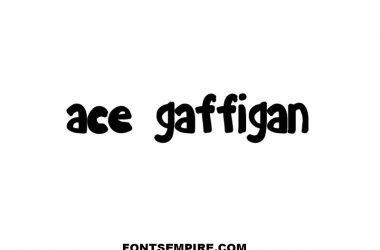 Ace Gaffigan Font Family Free Download
