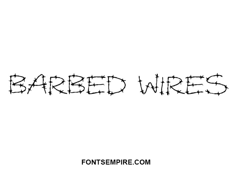 Barbed Wires Font Family Free Download