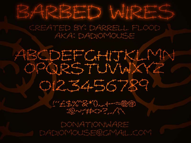Barbed Wires Font Free Download