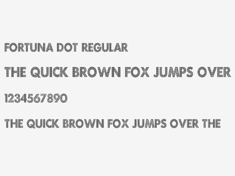 Fortuna Dot Font Free Download