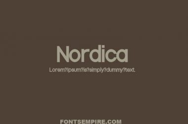 Nordica Font Family Free Download