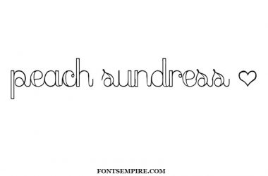 Peach Sundress Font Family Free Download