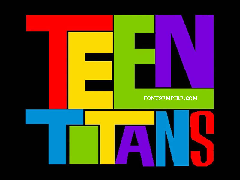 Teen Titans Font Family Free Download