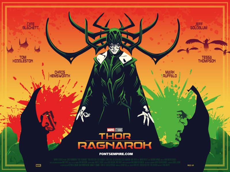 Thor Ragnarok Font Family Free Download