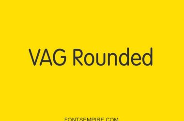 Vag Rounded Font Family Free Download