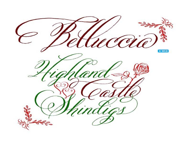 Belluccia Font Family Download