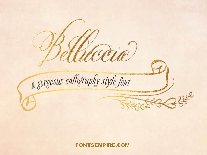Belluccia Font Family Free Download