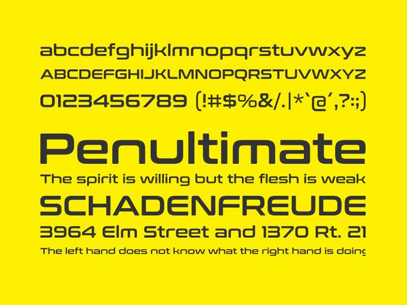 Conthrax Font Family Download