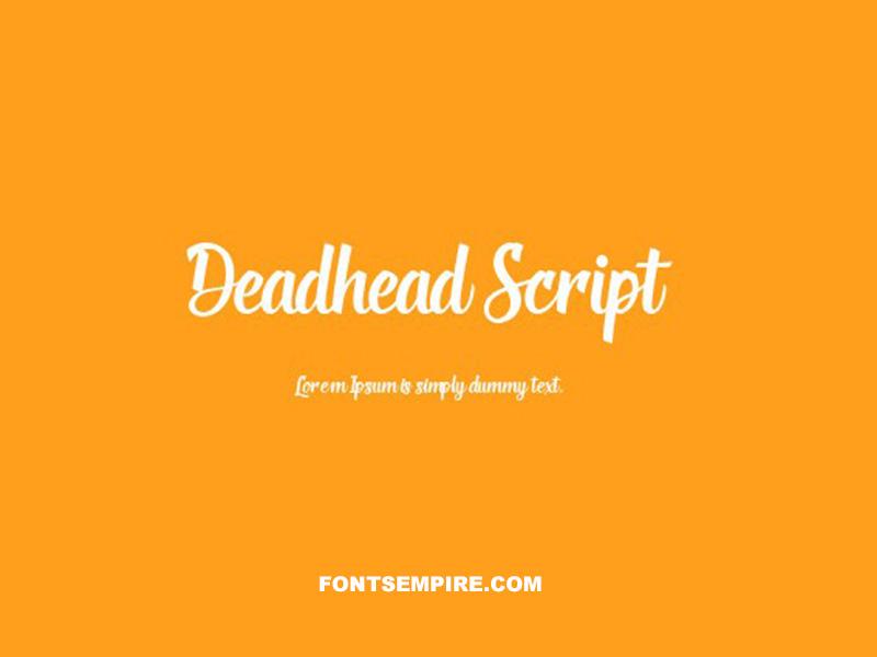 Deadhead Script Font Family Free Download
