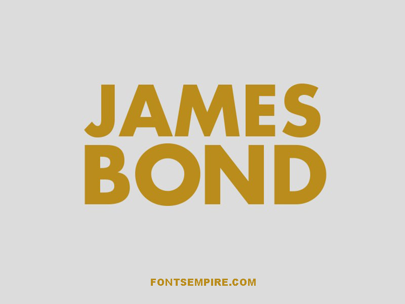 James Bond Font Family Free Download