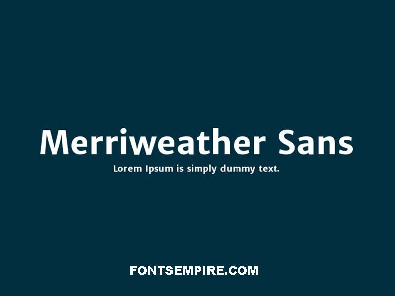 Merriweather Sans Font Family Free Download