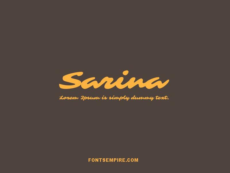 Sarina Font Family Free Download