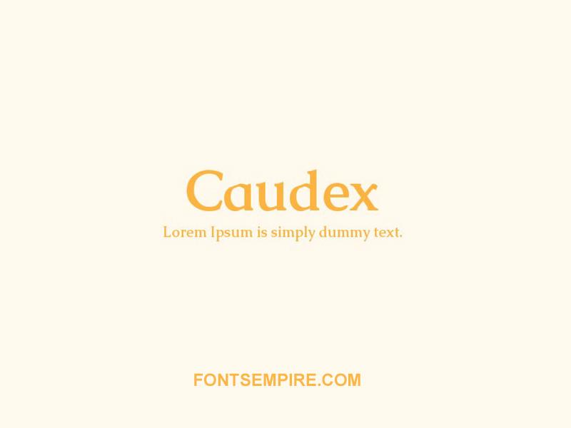 Caudex Font Family Free Download
