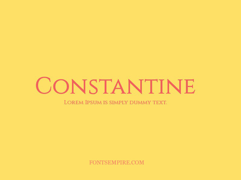 Constantine Font Family Free Download
