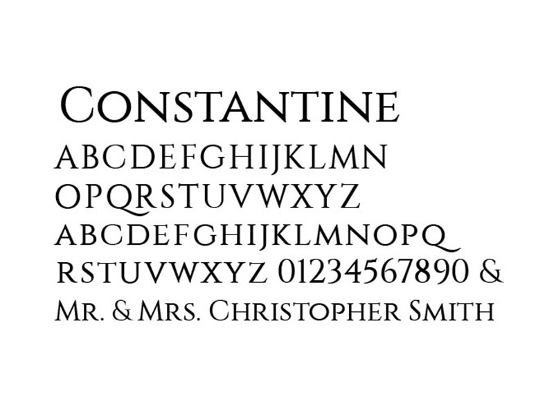 Constantine Font Free Download