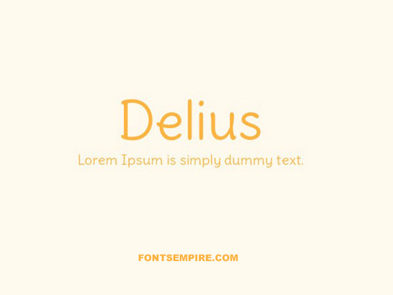Delius Font Family Free Download