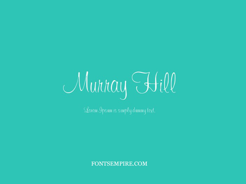 Murray Hill Font Family Free Download