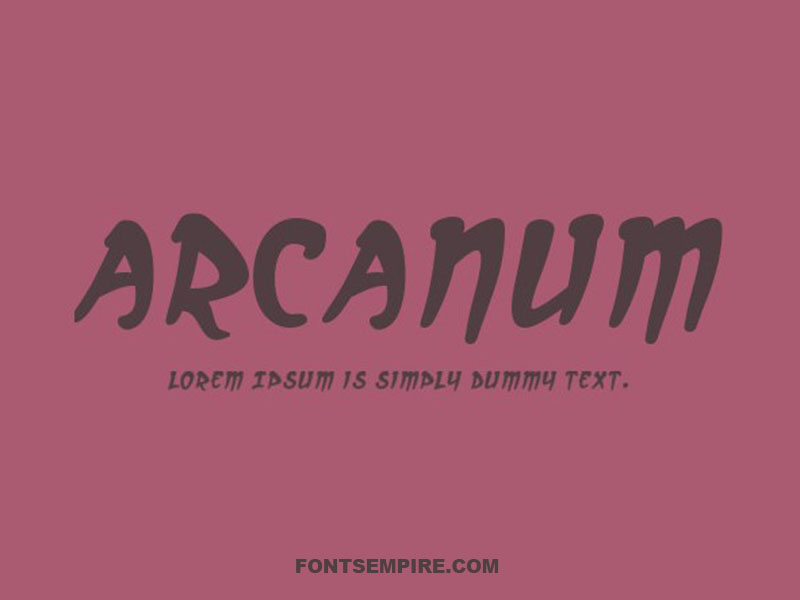Arcanum Font Family Free Download