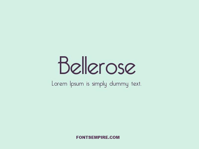 Bellerose Font Family Free Download