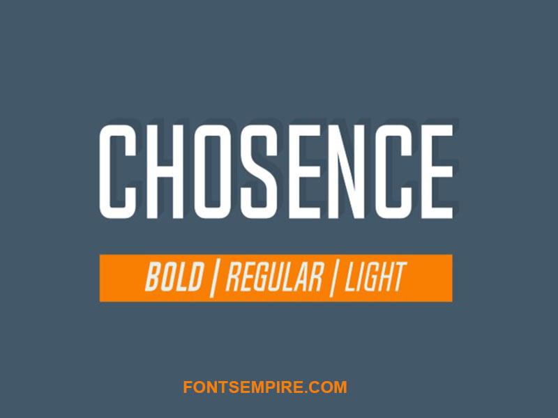 Chosence Font Family Free Download