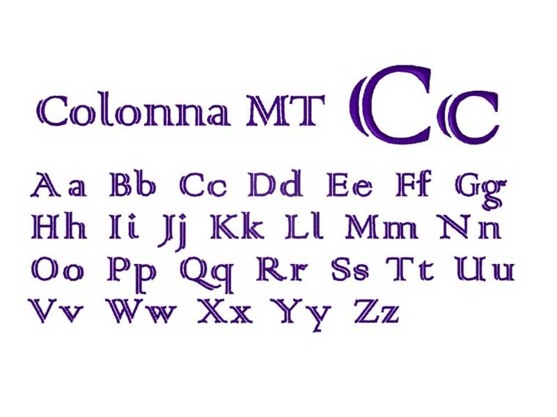 Colonna MT Font Family Download