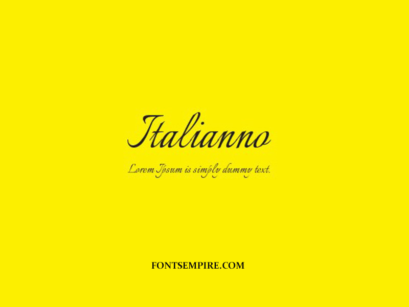 Italianno Font Family Free Download