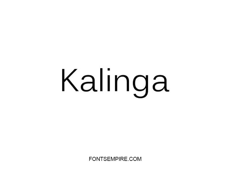 Kalinga Font Family Free Download