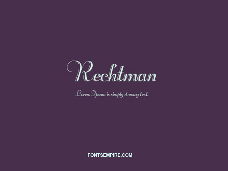 Rechtman Font Family Free Download