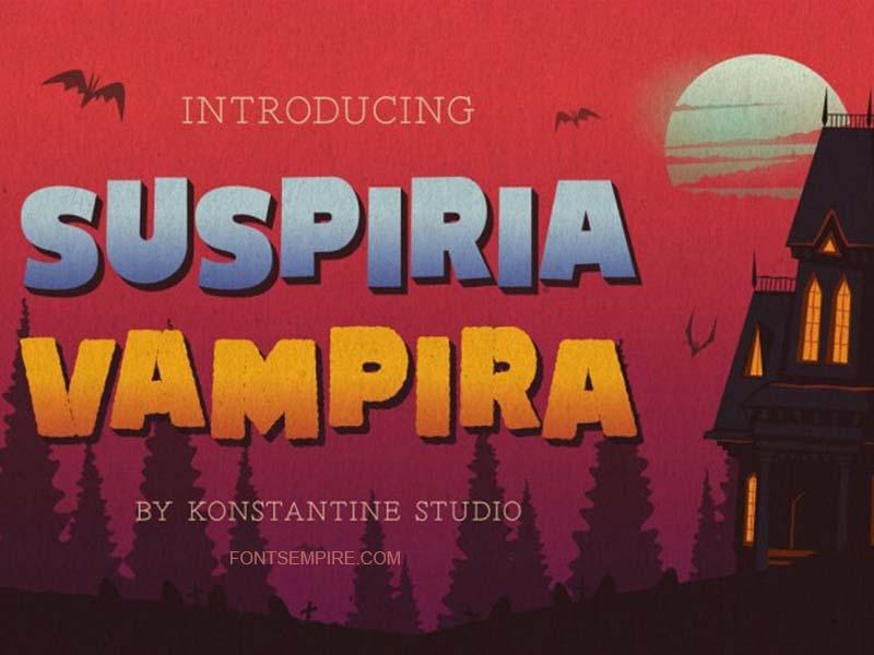 Suspiria Font Family Free Download