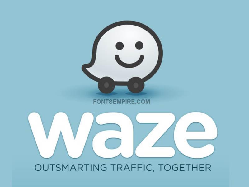 Waze Logo Font Family Free Download