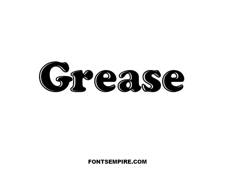 Grease Font Family Free Download