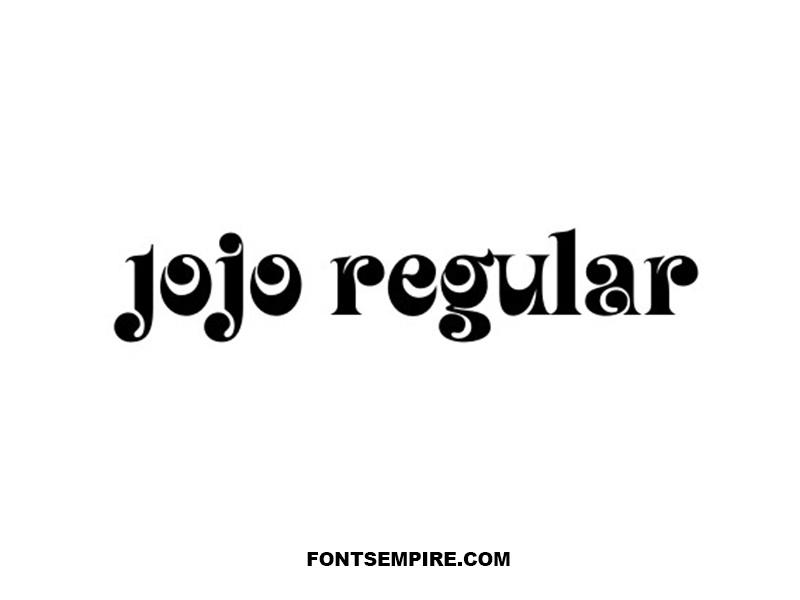 Jojo Font Family Free Download