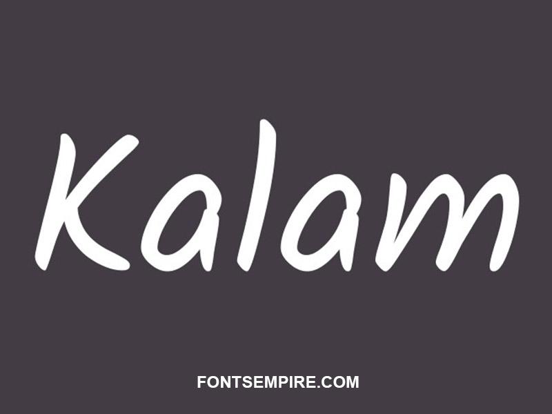 Kalam Font Family Free Download