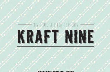 Kraft Nine Font Family Free Download
