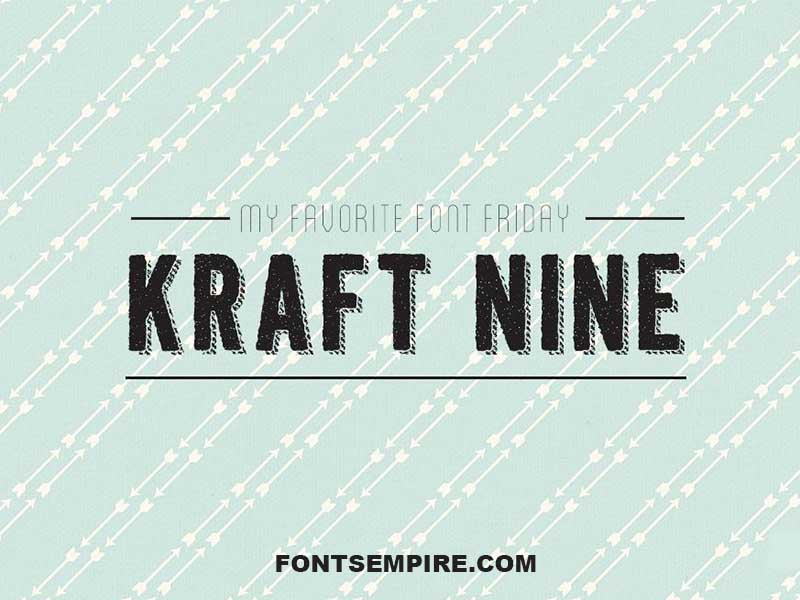 Kraft Nine Font Family Free Download