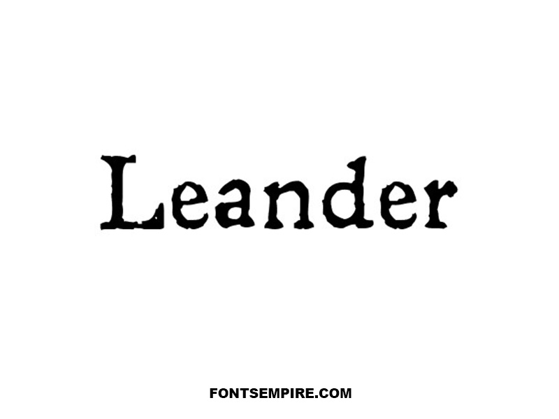 Leander Font Family Free Download