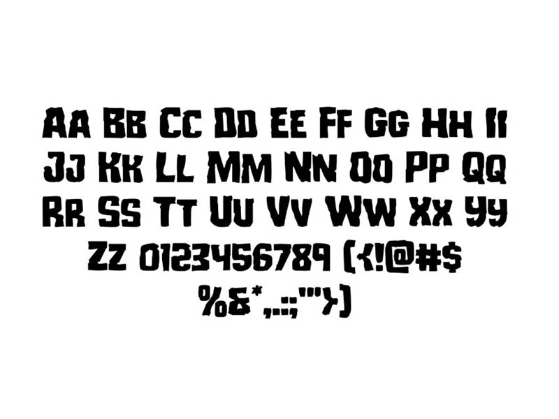 Monster Hunter Font Family Download
